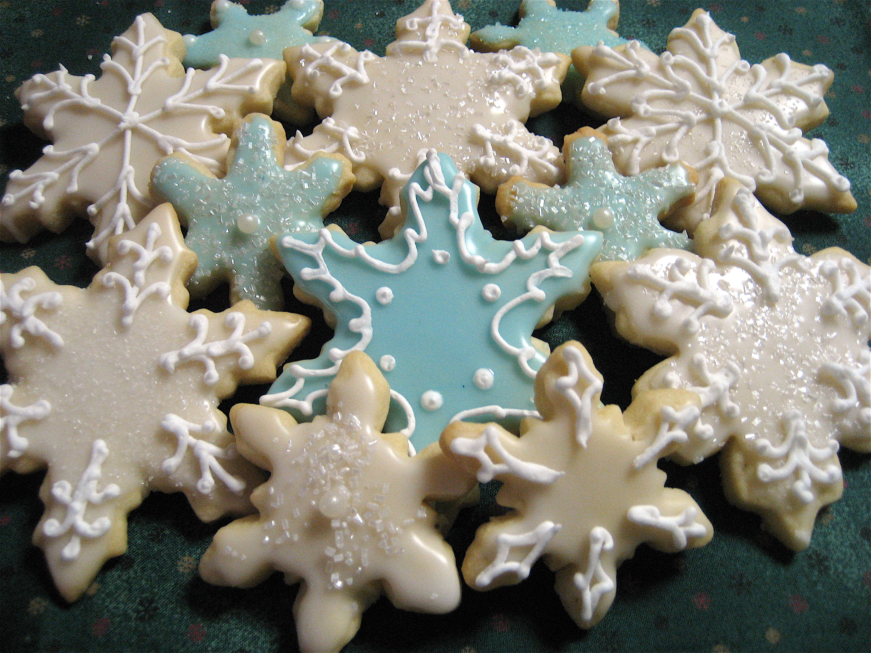 Christmas Cookies Snowflake Cutouts Big A Little A