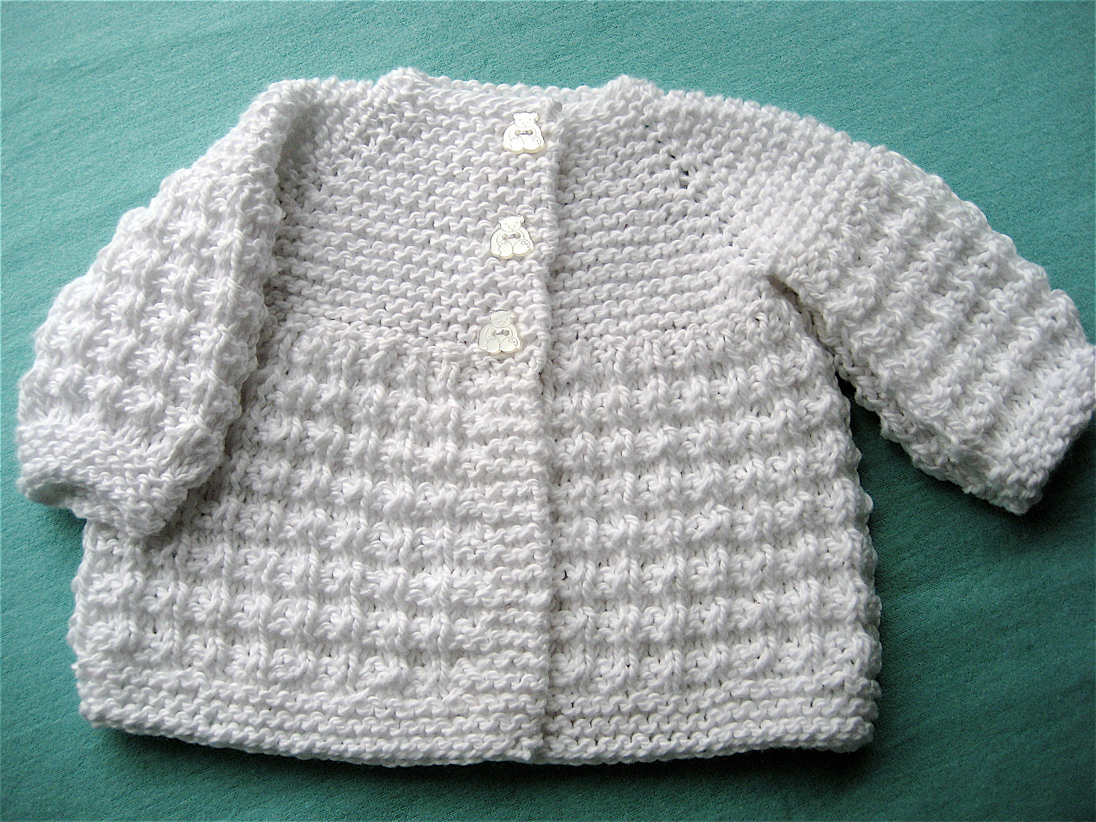 Knit for Baby   Cotton Cardigan Big A, Little A