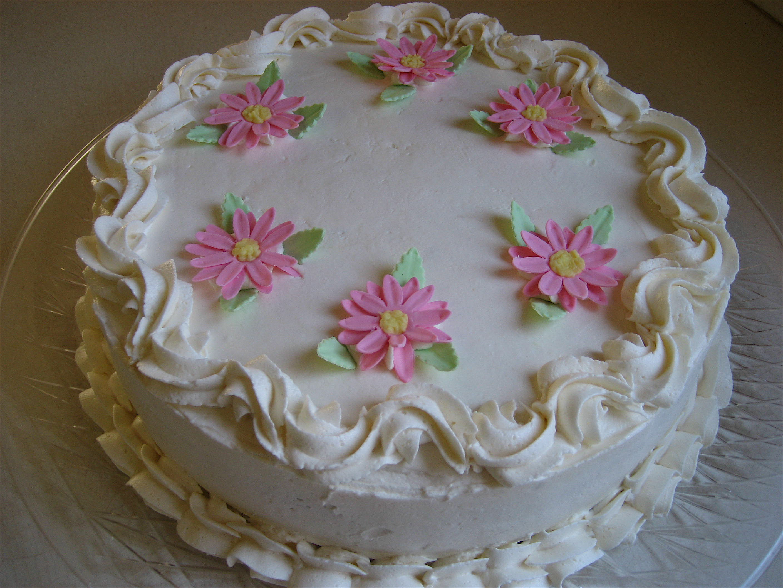Pink Daisy Cake Big A, Little A