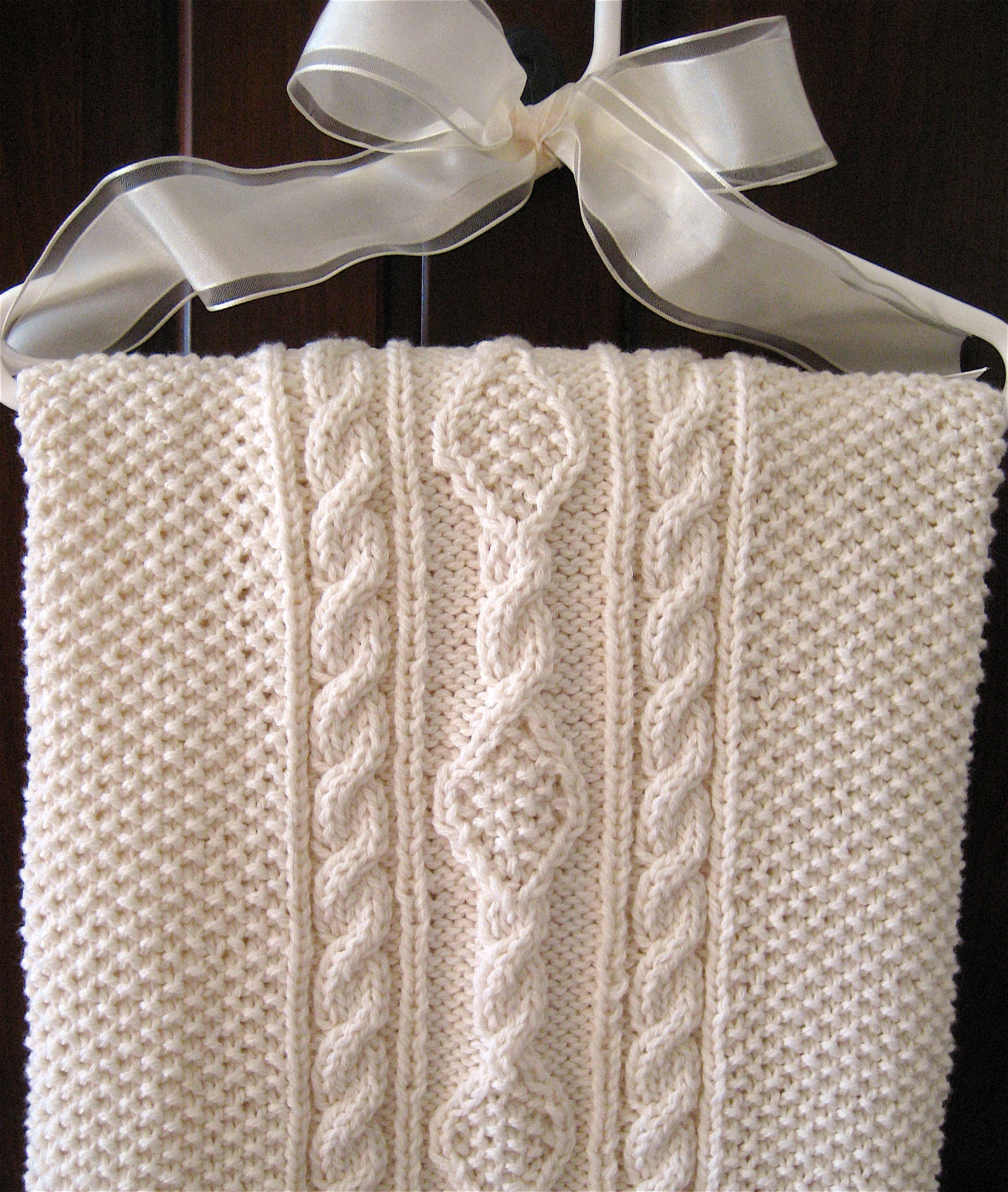 Irish Knit Baby Blanket Pattern : Irish Knit Baby Blanket Big A, Little A