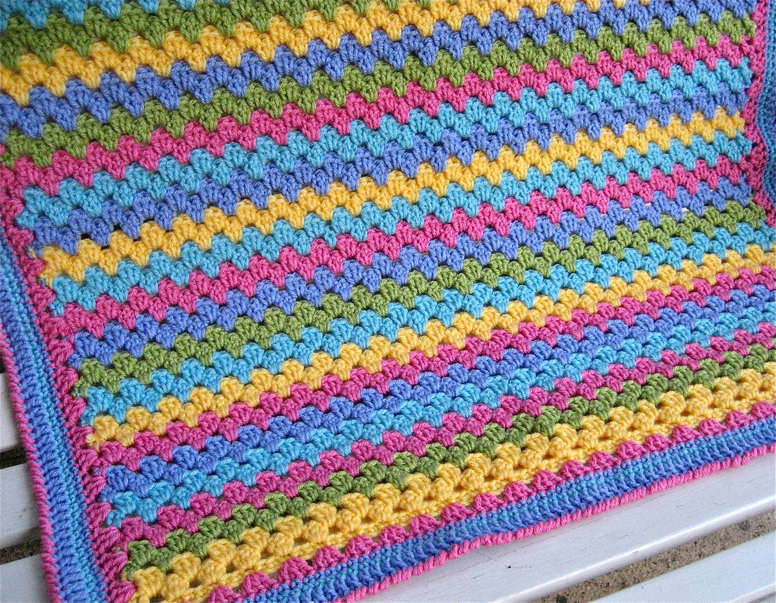Granny Stripe Blanket Pattern Amazing Inspiration