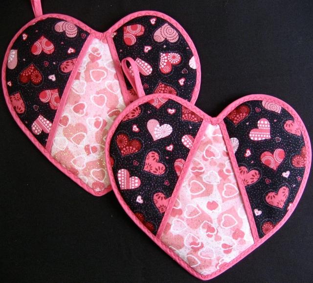Homemade Pot Holders: Martha Stewart's Heart-Shaped Pot Holders