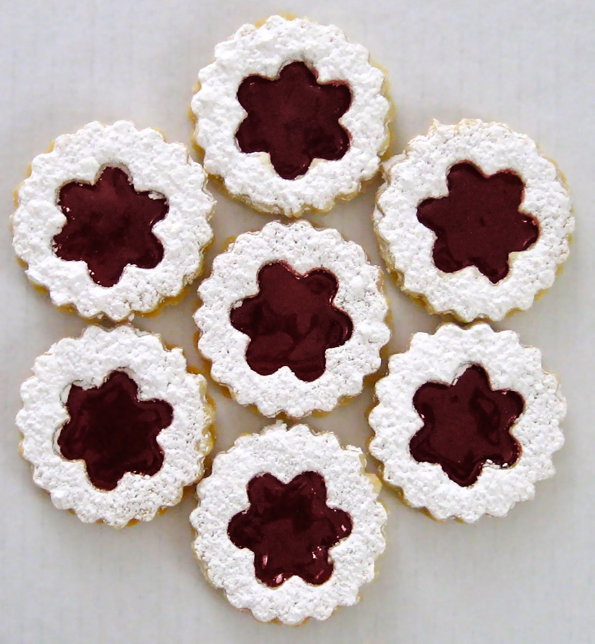 raspberry jam = delicious. The little twist with these Linzer Cookies ...