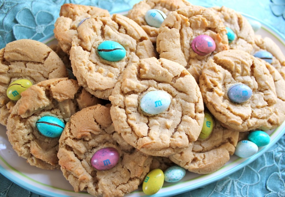 Spring Peanut Butter Cookies