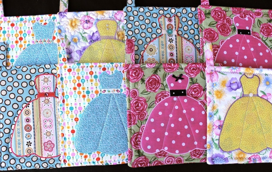 """My Pretty Easter Dress"" Potholders"