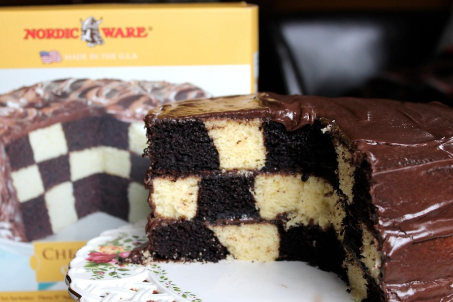 "Chocolate Checkerboard Cake Update…or ""Ask and ye shall receive."""