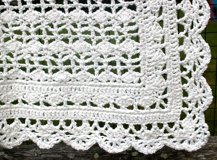 Crocheted Baby Blanket Big A Little A
