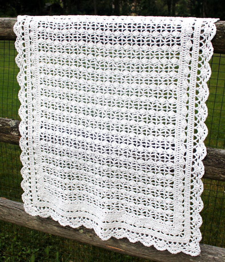 Crocheted Baby Blanket | Big A, Little A