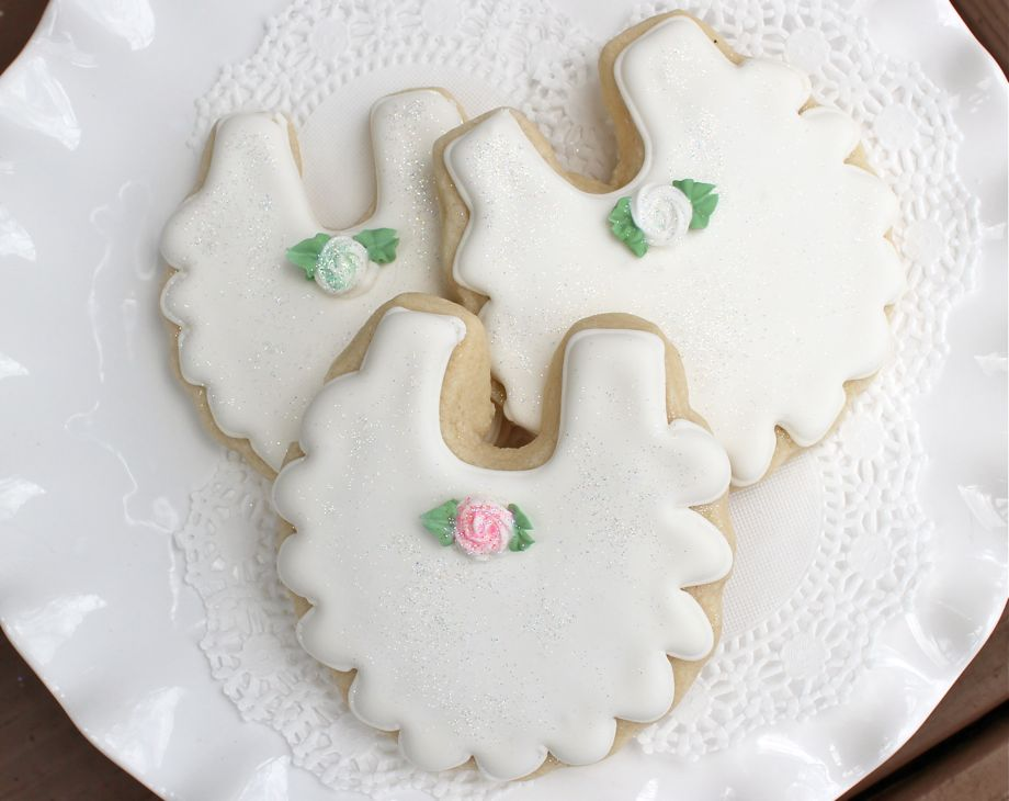 Baby Bib Sugar Cookies