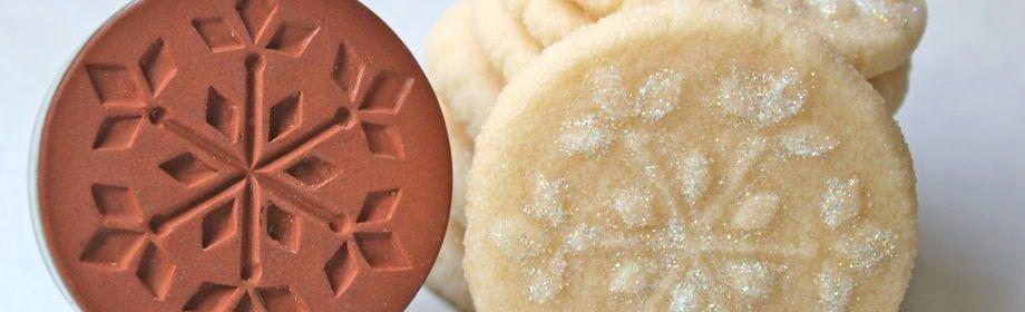 Snowflake-Stamped Shortbread Cookies