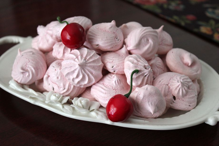 Black Cherry Chip Meringue Cookies
