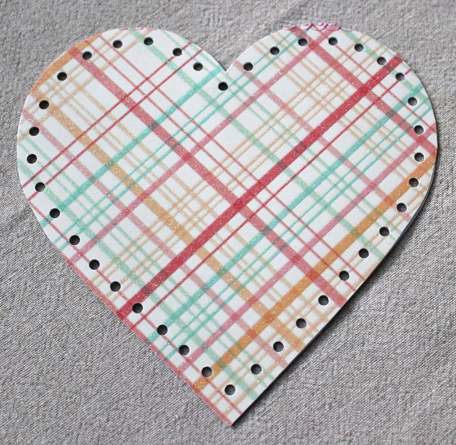 Crocheted Paper Heart Garland (and tutorial)   Big A, Little A