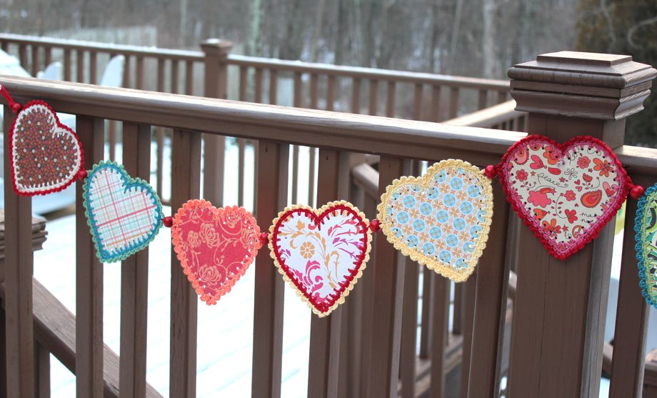 Crocheted Paper Heart Garland And Tutorial Big A Little A