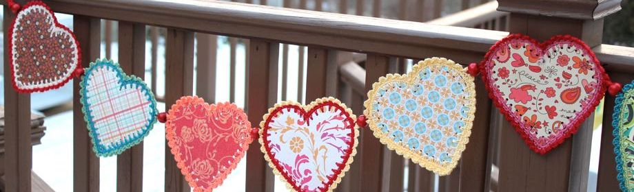 Crocheted Paper Heart Garland (and tutorial)