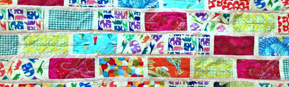 """Garden Bricks """"Animal Print""""Quilt"""