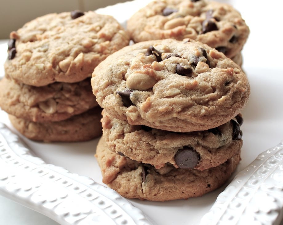 Chunky Peanut Butter Chocolate ChipCookies