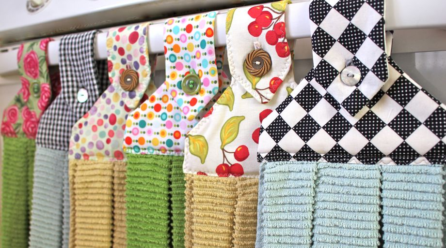 Colorful Hanging Dishtowels