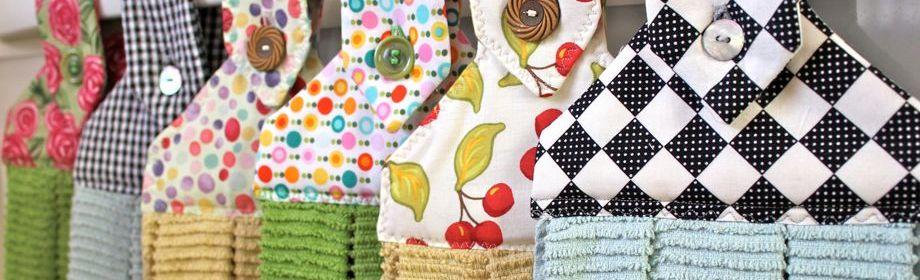 Colorful Hanging Dishtowels