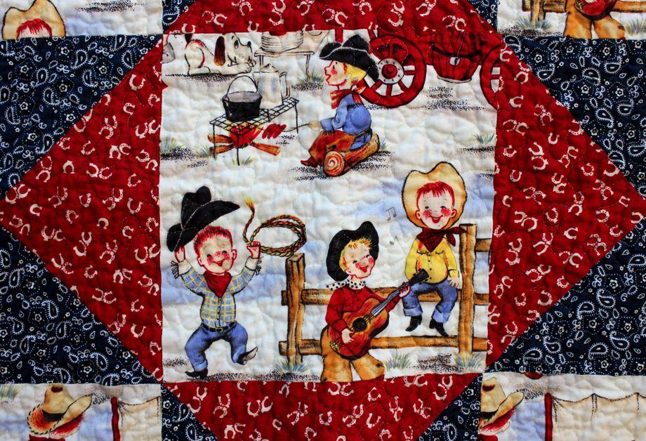 Cowboy Cute: Baby Quilt and Hat | Big A, Little A : cowboy quilt pattern - Adamdwight.com
