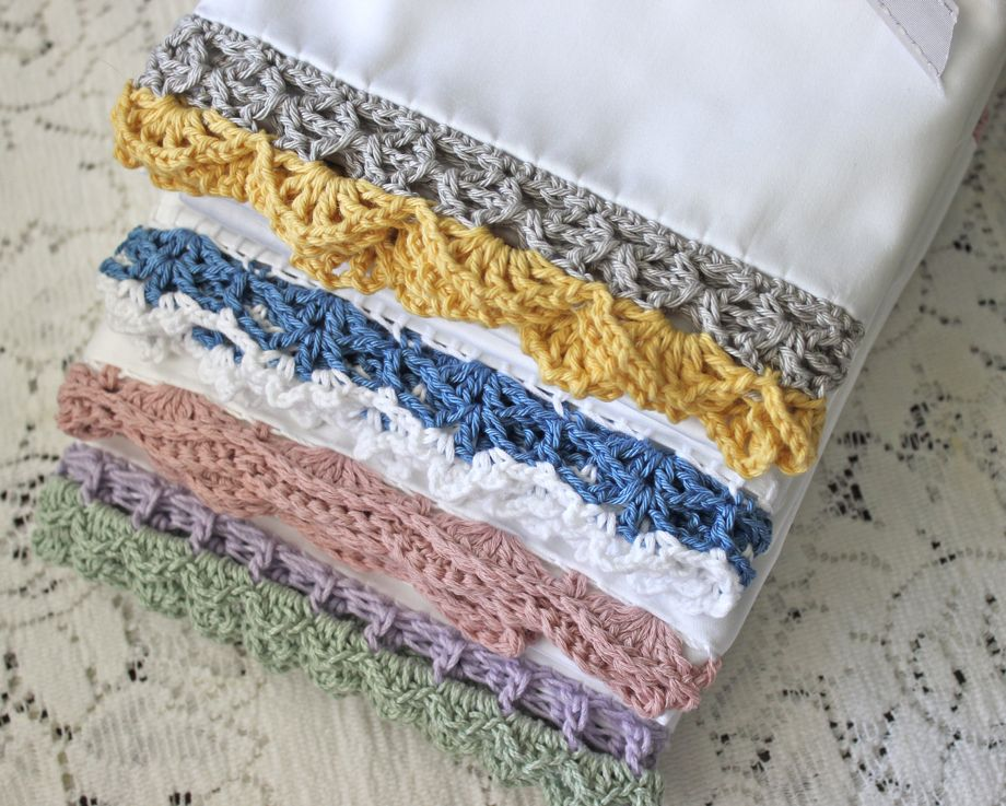 Crocheted Edge Pillowcases Big A Little A