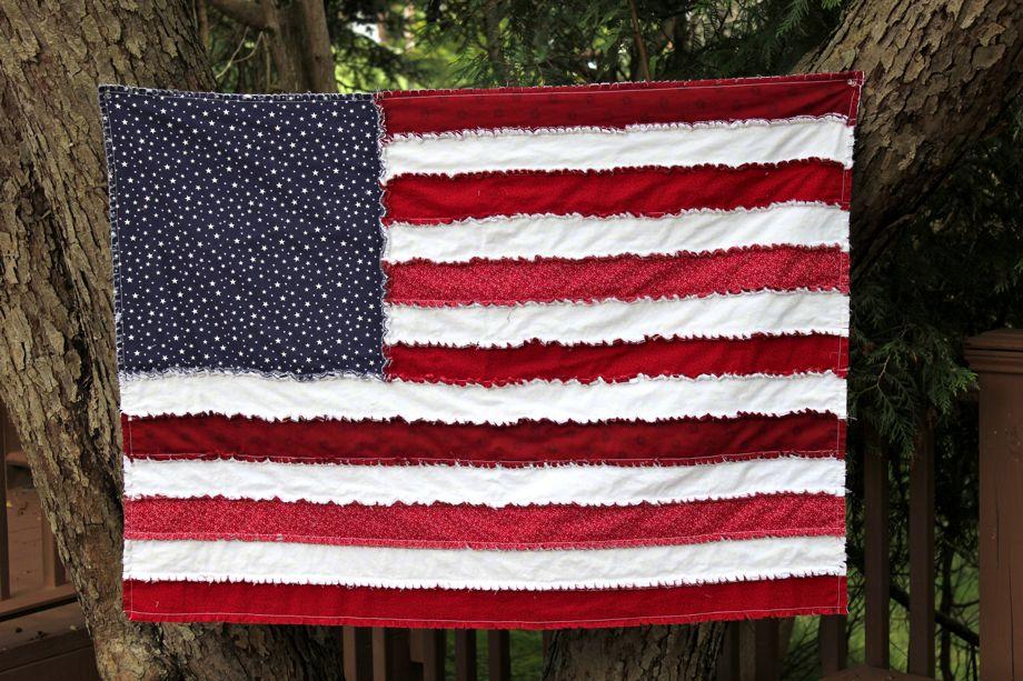 Grand Old Flag Rag Quilt Big A Little A