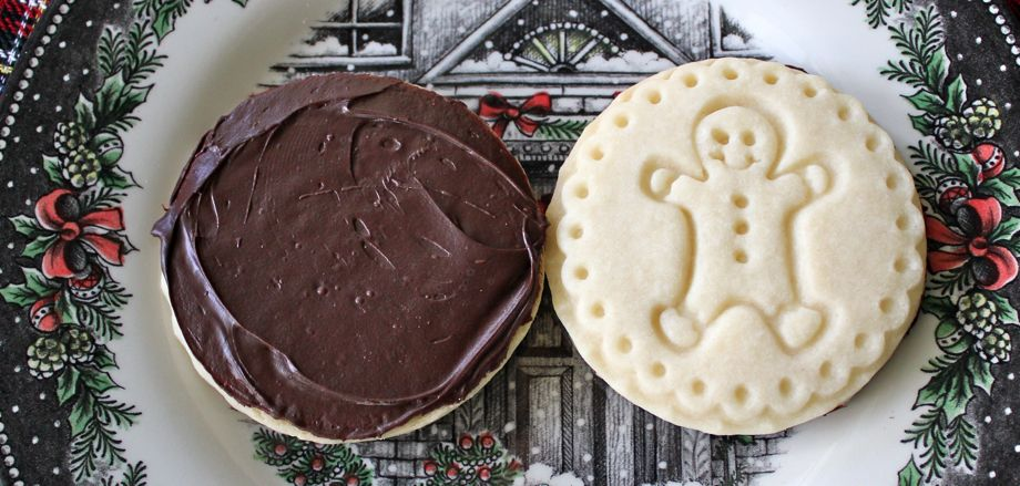 Chocolate-Dipped Stamped Shortbread